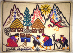 Embroidered cloth, Peru